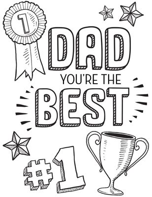 Best Dad Ever Coloring Pages