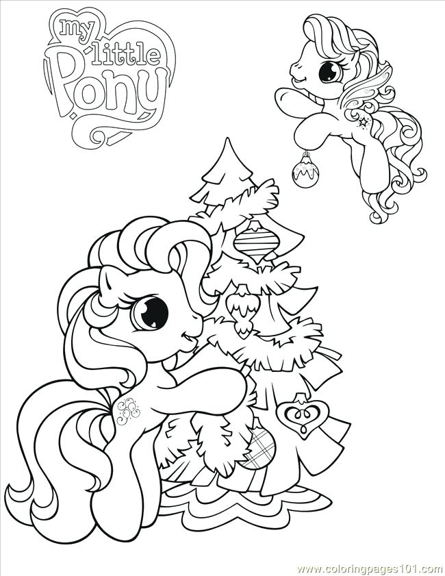 650x841 Free Christmas Coloring Pages For Kids My Little Pony Coloring