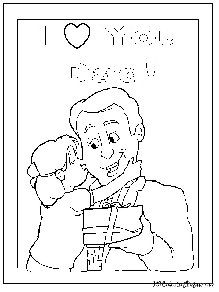 718x957 I Love You Dad Coloring Pages
