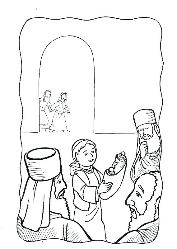 569x800 Jesus Clears The Temple Coloring Page In The Temple Coloring Page