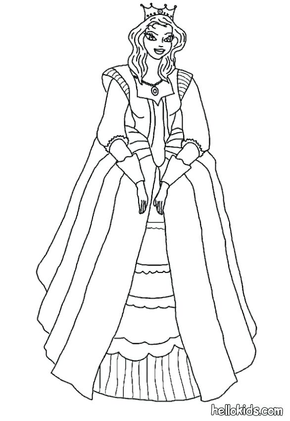 586x850 Middle Ages Coloring Pages Pics Of Princess Coloring Pages