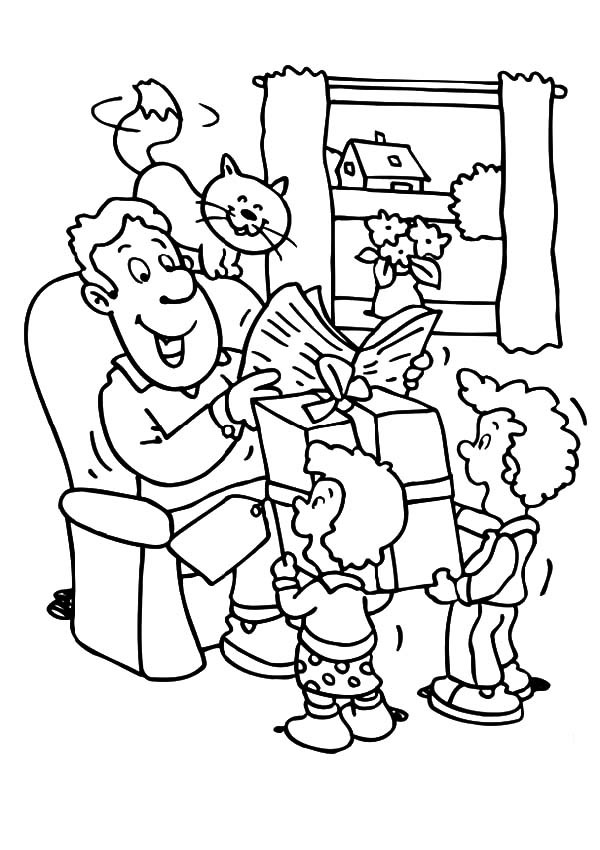 600x850 Prepare Big Gift For Best Dad In The World Coloring Pages Best