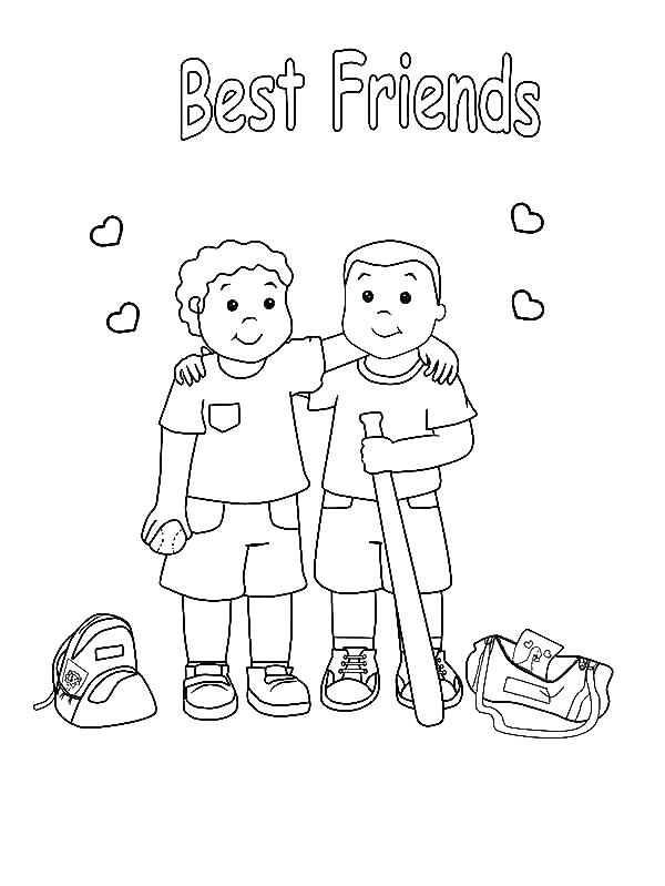 600x799 Best Friend Coloring Pages Friendship Coloring Pages And Friends