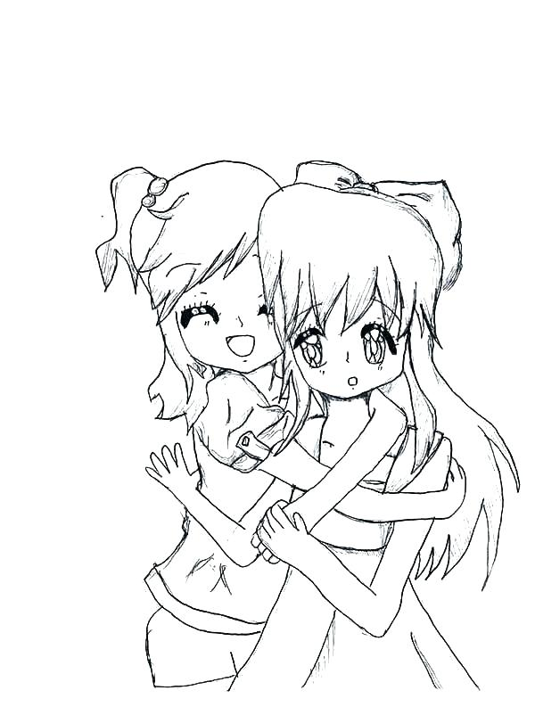 600x793 Best Friend Coloring Pages To Print Best Friends Coloring Pages