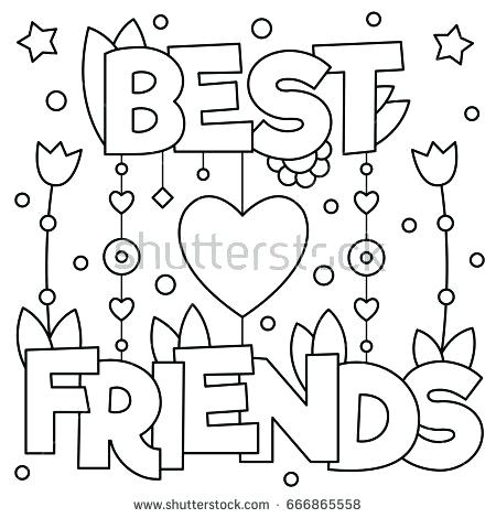 450x470 Coloring Pages Friends Awesome Best Friend Coloring Pages For Your