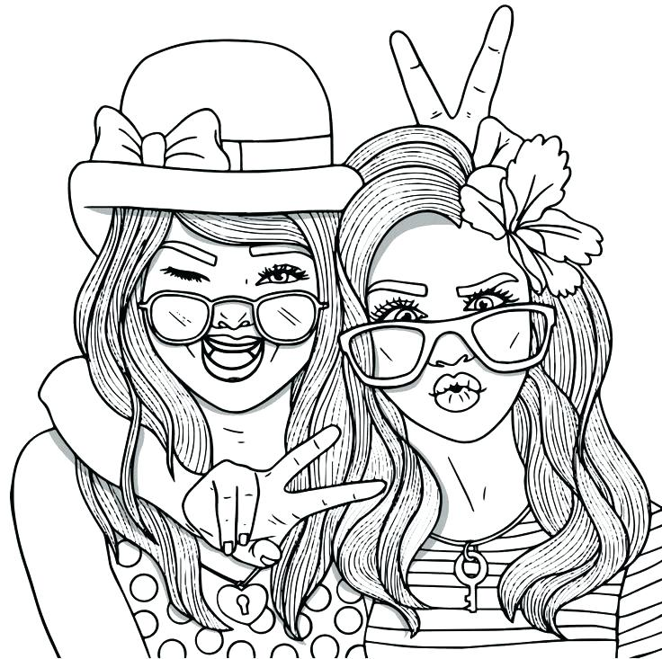 736x733 Amazing Coloring Pages For Best Friends Forever Coloring Pages