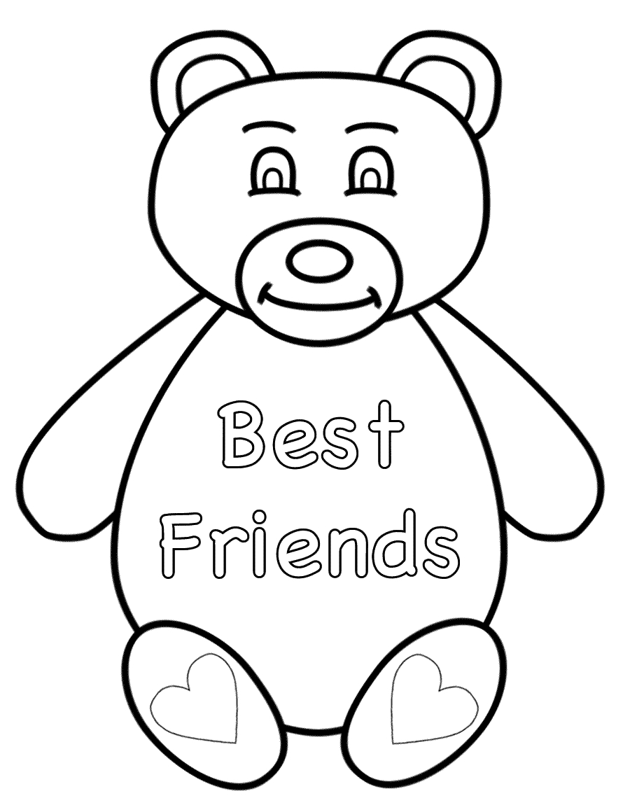 900x1150 Printable Best Friend Coloring Pages For Girls Color Bros