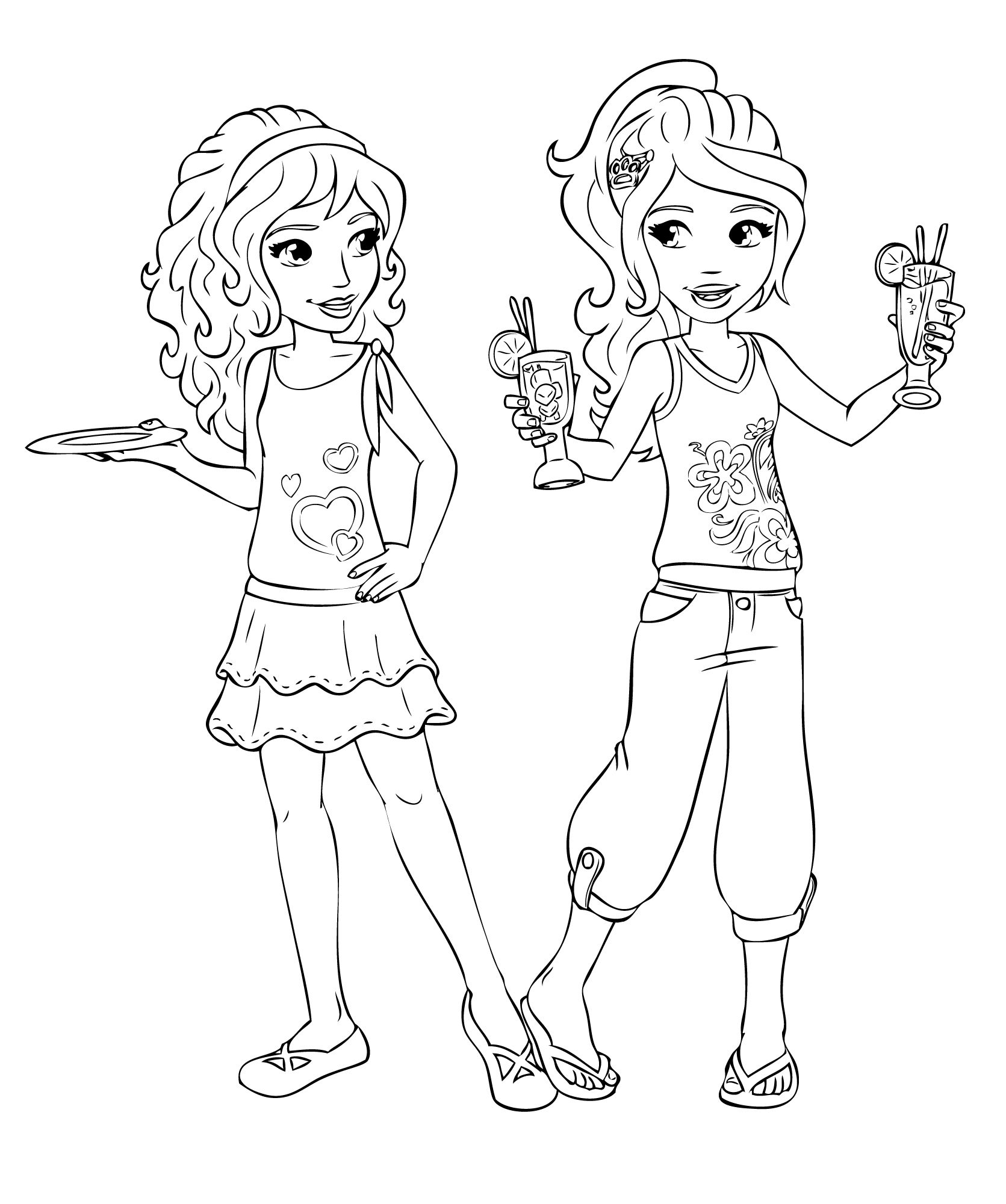 1671x2000 Lego Friends Coloring Pages Tagged With Best Friends Coloring