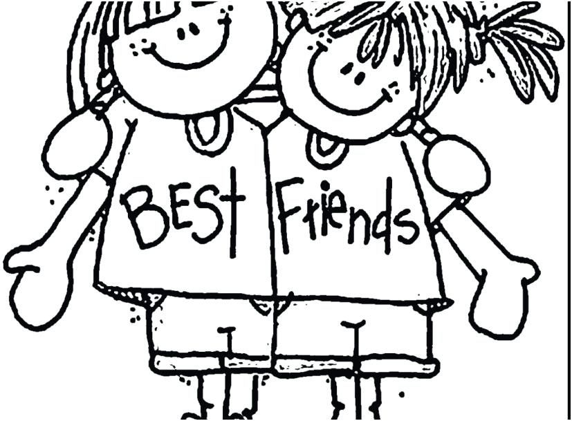 827x609 Best Friend Coloring Page Footage Friendship Coloring Pages Very