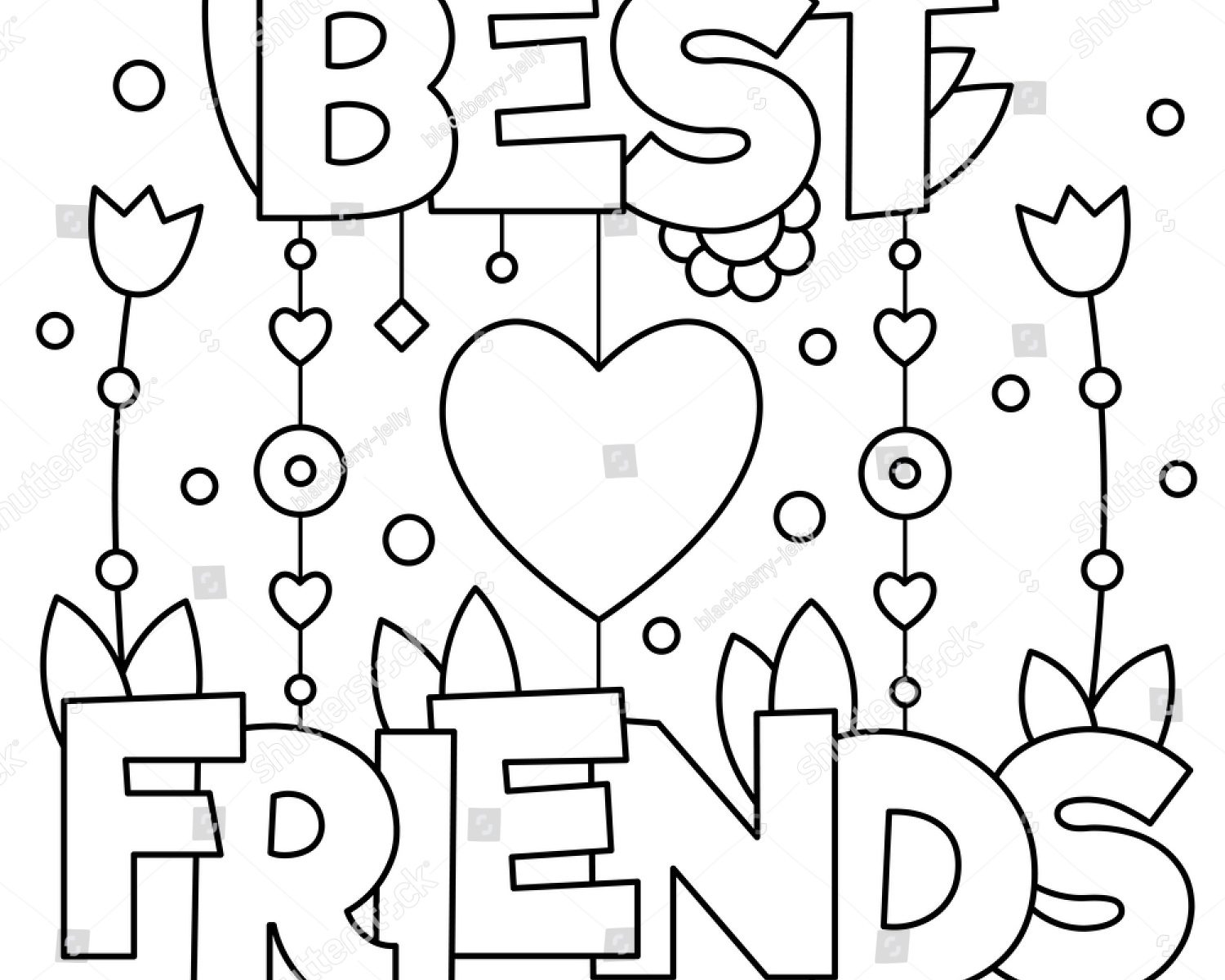 1500x1200 Best Friend Coloring Pages For Girls Free General Printable Sheets