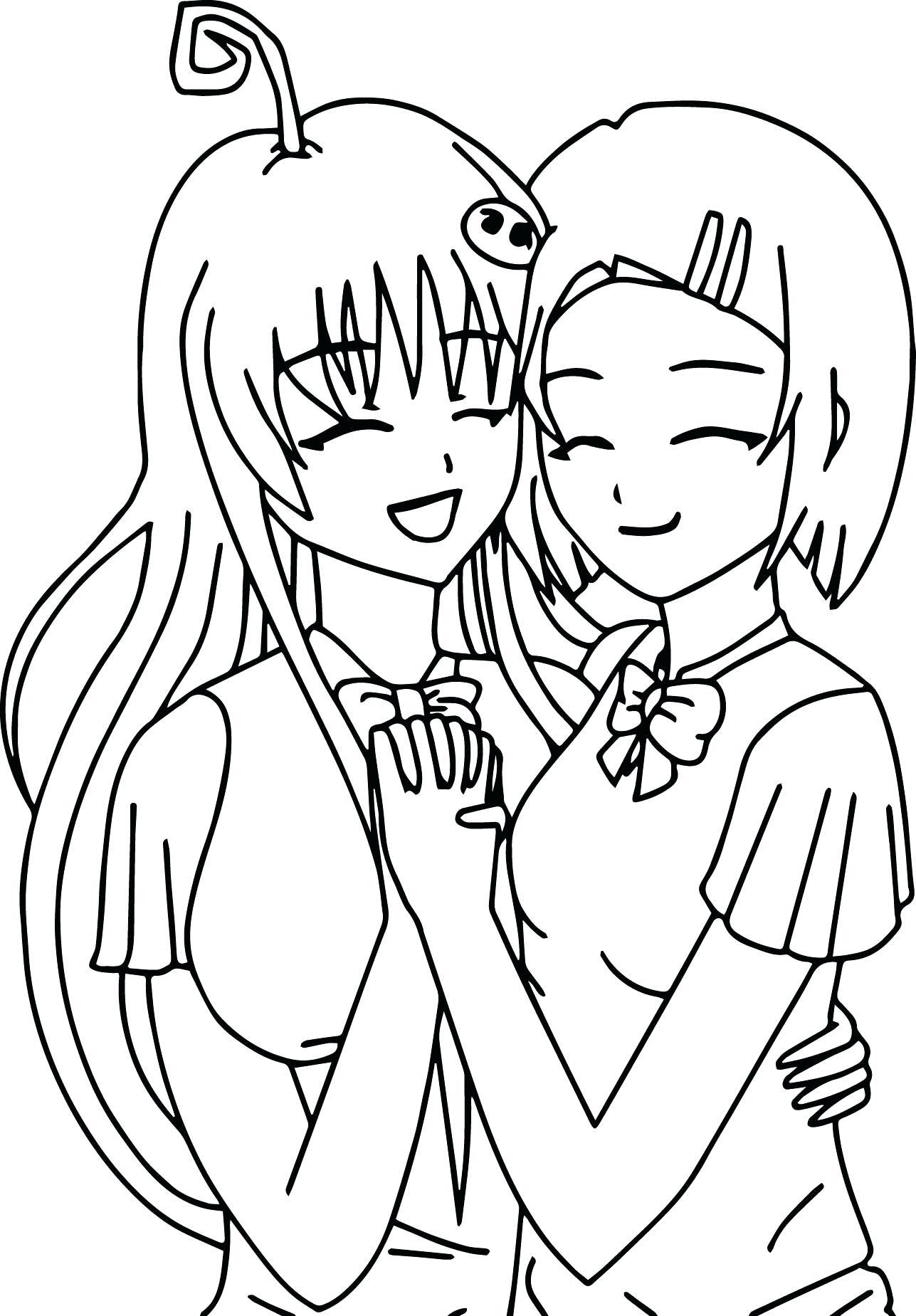 1287x1849 Best Friend Coloring Pages To Print