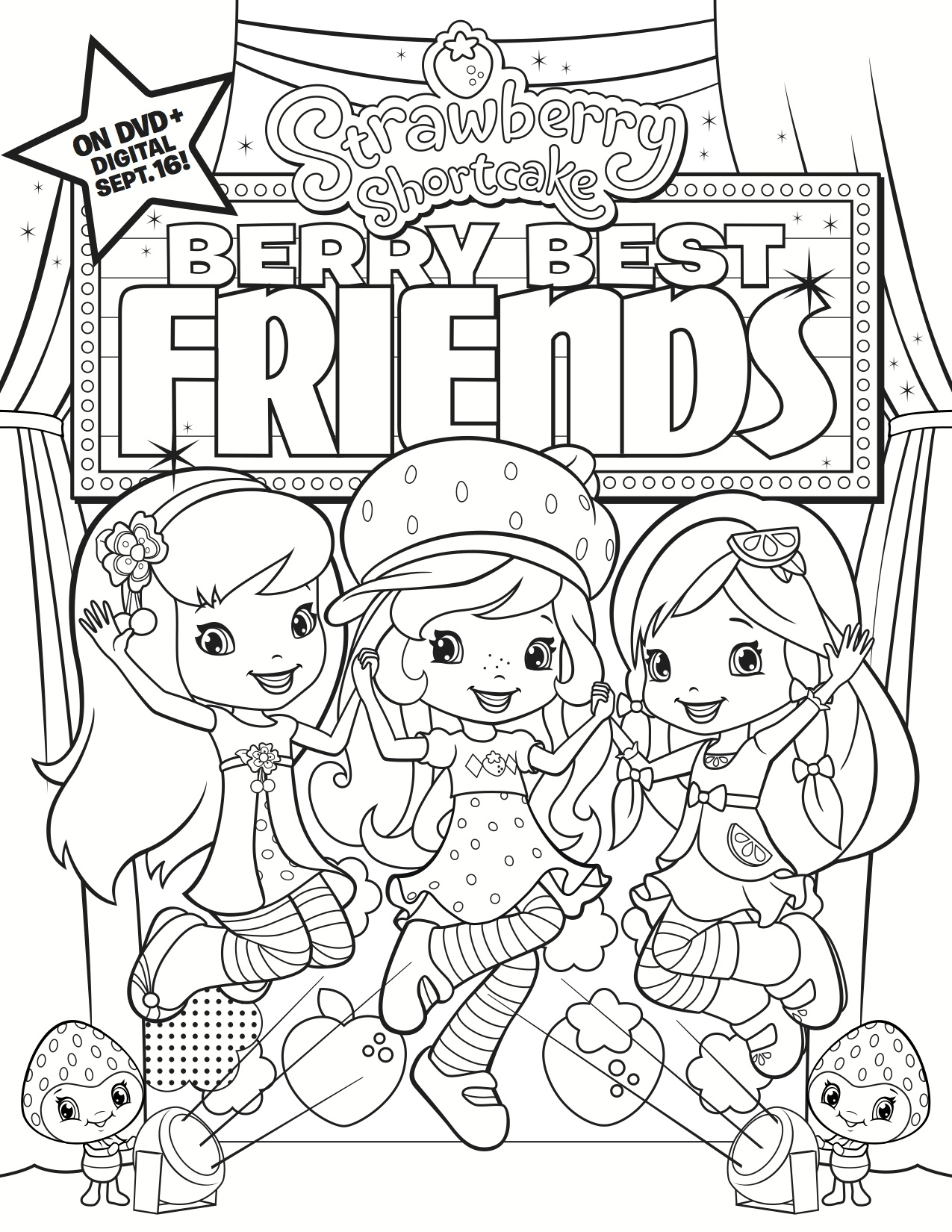 1275x1650 Best Friend Coloring Pages For Girls Color Bros Free