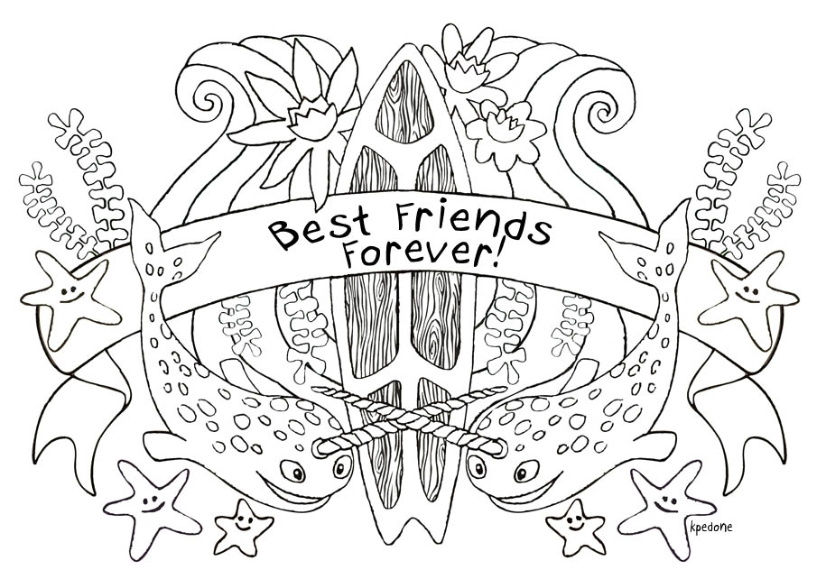 915x652 Best Friend Coloring Pages For Teenage Girls Collection