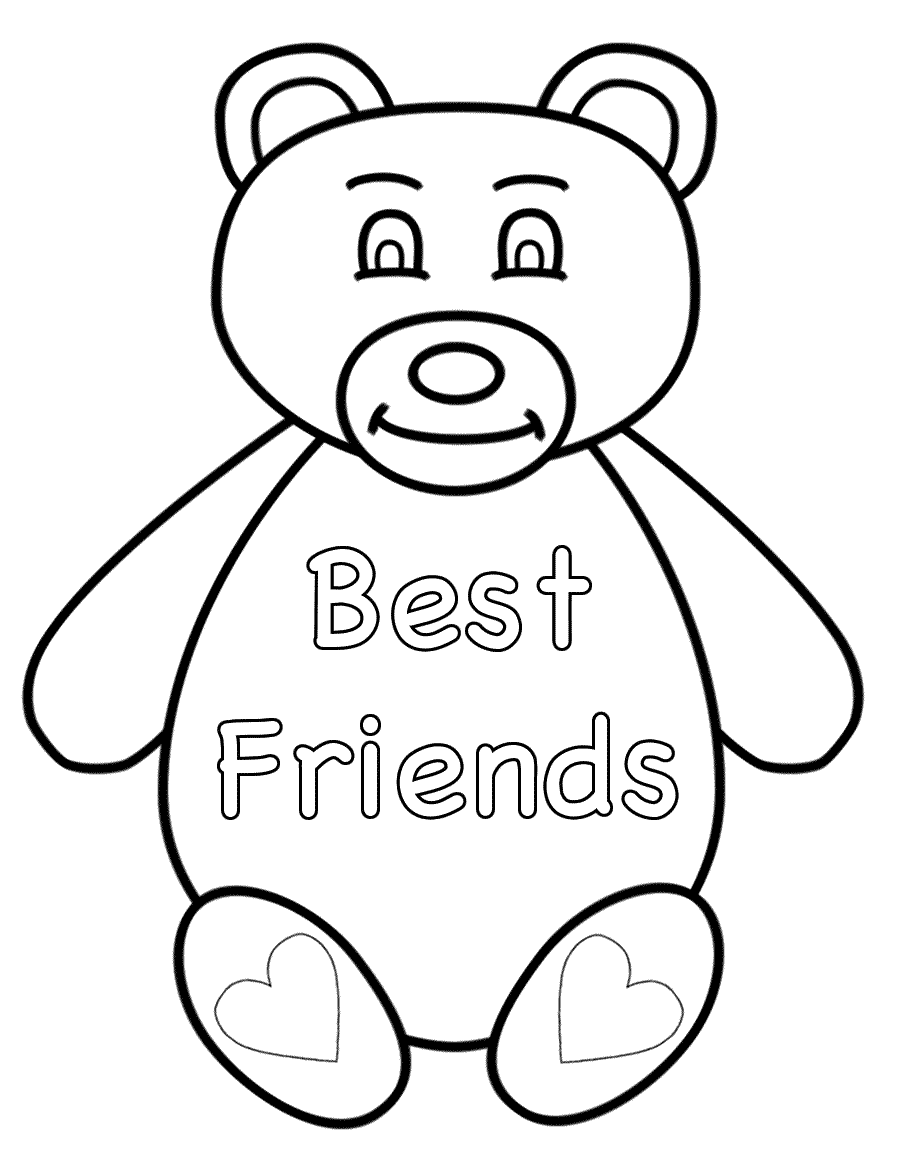900x1150 Superior Best Friend Coloring Pages For Girls A Womanmate Com