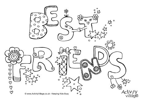 460x325 Best Friend Coloring Pages To Print Best Friends Colouring Page