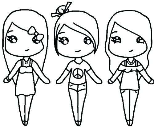 500x413 Cute Girl Coloring Pages Best Friend Coloring Pages Online