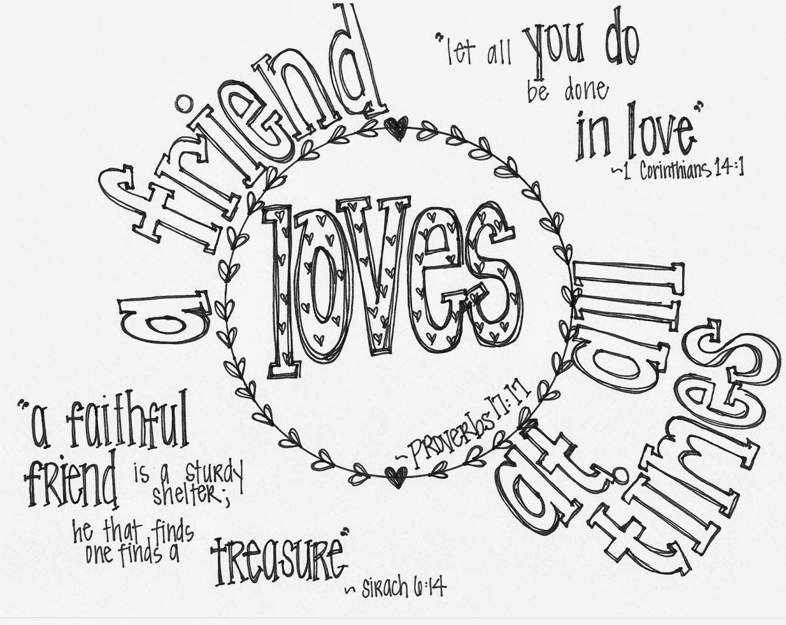 1600x1273 Free Printable Valentine's Coloring Page With Bible Verses