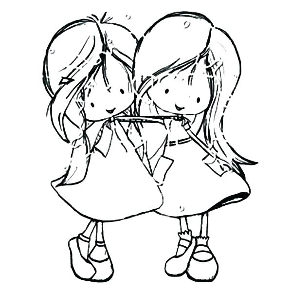 600x600 Two Best Friends Coloring Pages Best Friend Coloring Pages