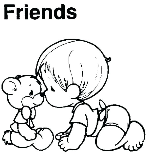 600x679 Best Friend Coloring Pages To Print Preschool In Sweet Friendship
