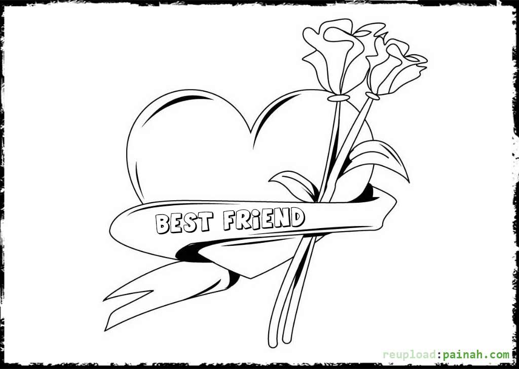 1024x728 Best Friend Coloring Pages Best Friend Coloring Pages