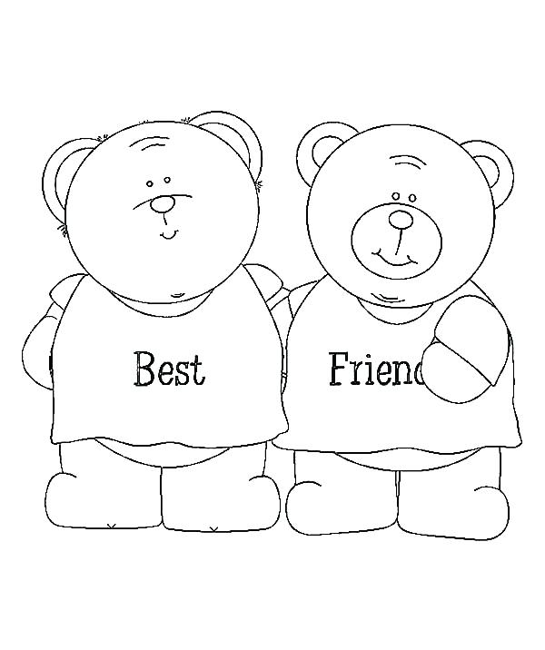 600x716 Coloring Pages Teddy Bears Teddy Bear Best Friends Coloring Pages