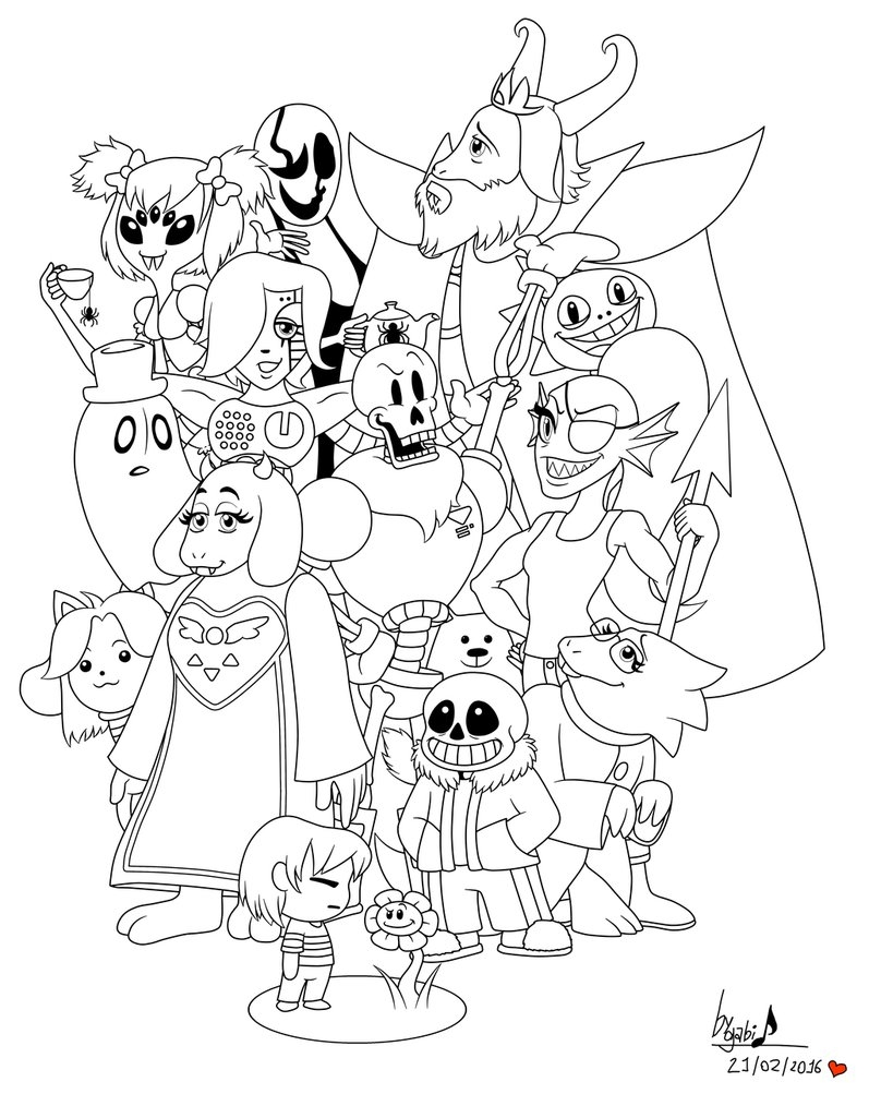 797x1003 New Undertale Coloring Pages Printable Projects To Try