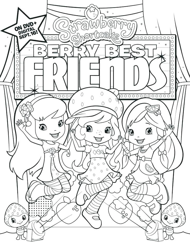 736x952 Strawberry Shortcake Halloween Coloring Pages Best Friends Colori