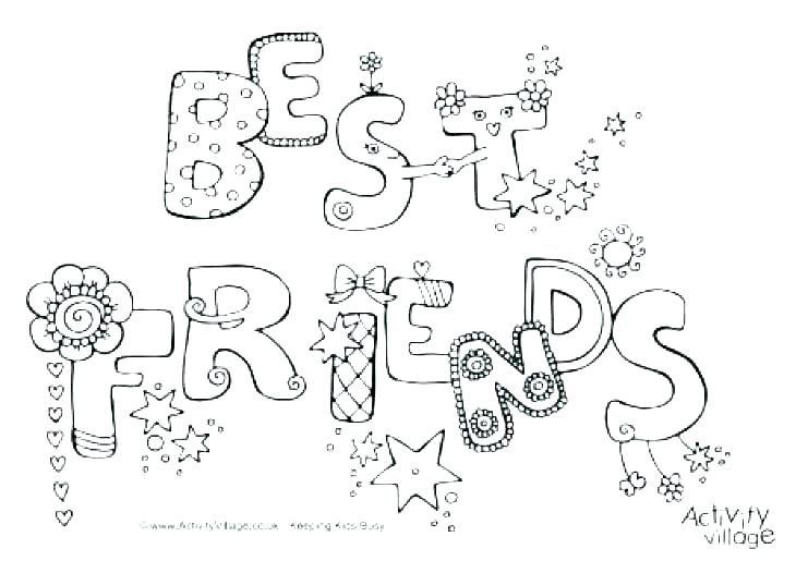 730x515 Best Friend Coloring Pages For Girls Professional