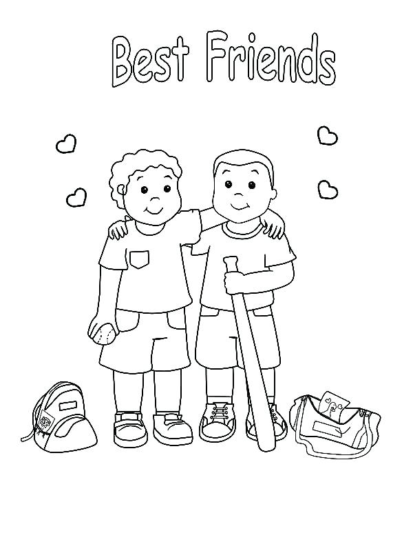 600x799 Best Friend Coloring Pages Friend Coloring Page Printable
