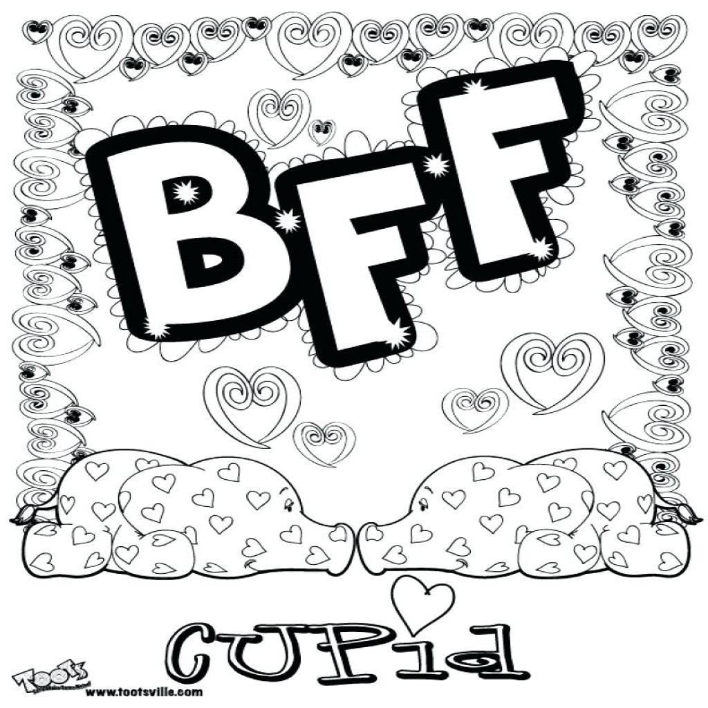 1024x1024 Best Friends Forever Coloring Page Free Printable Pages Of Bff