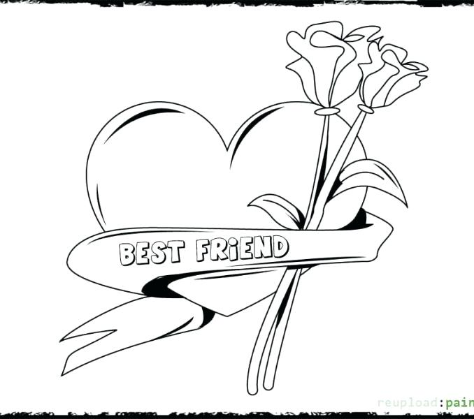 678x600 And Are Best Friends Coloring Page Free Printable Click To See
