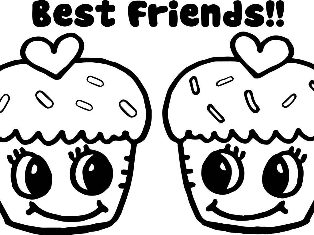 1024x768 Coloring In Pages Friendship Coloring Pages Best Friends Forever