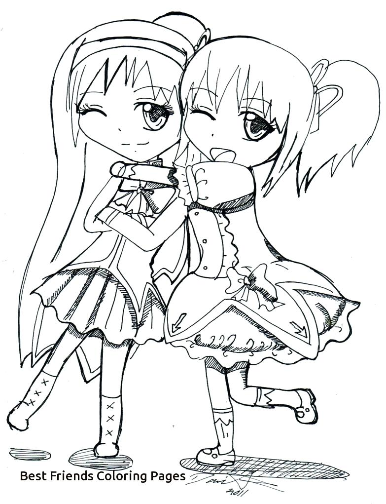 783x1021 Four Anime Best Friends Forever Coloring Page Friend Pages