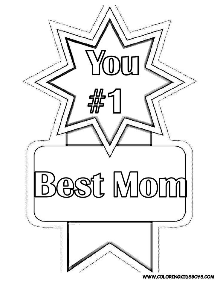 Best Mom Coloring Pages
