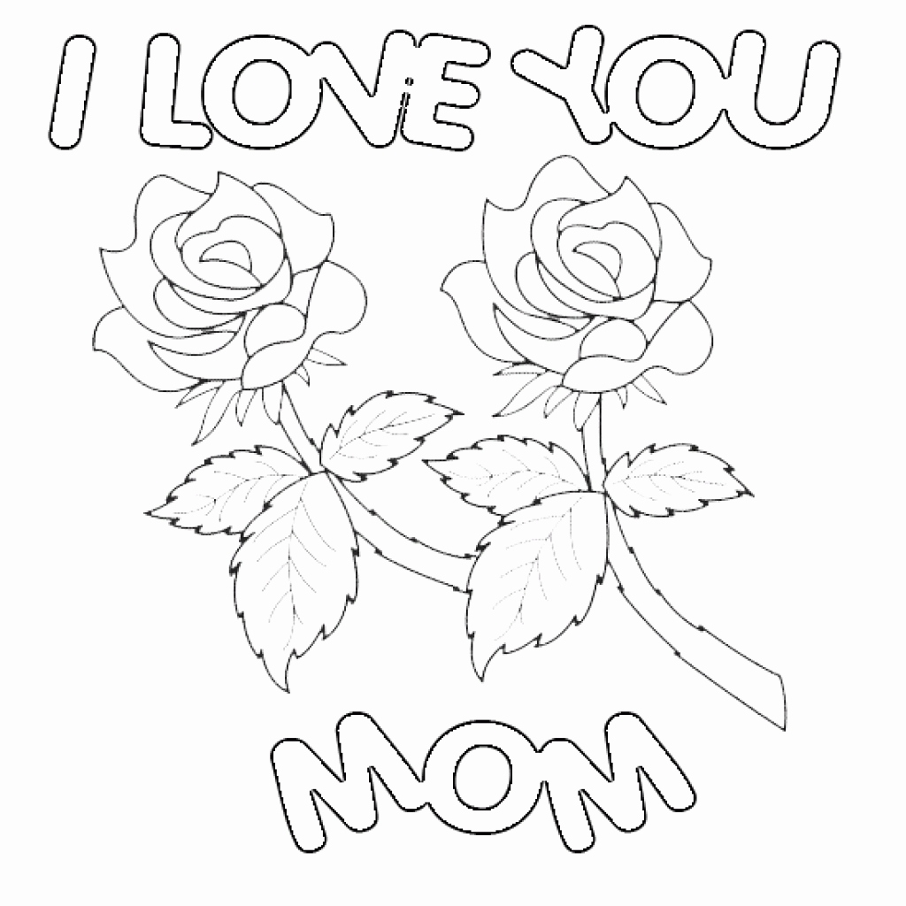 1024x1024 Happy Birthday Mom Coloring Pages Cards Best Of Page Throughout