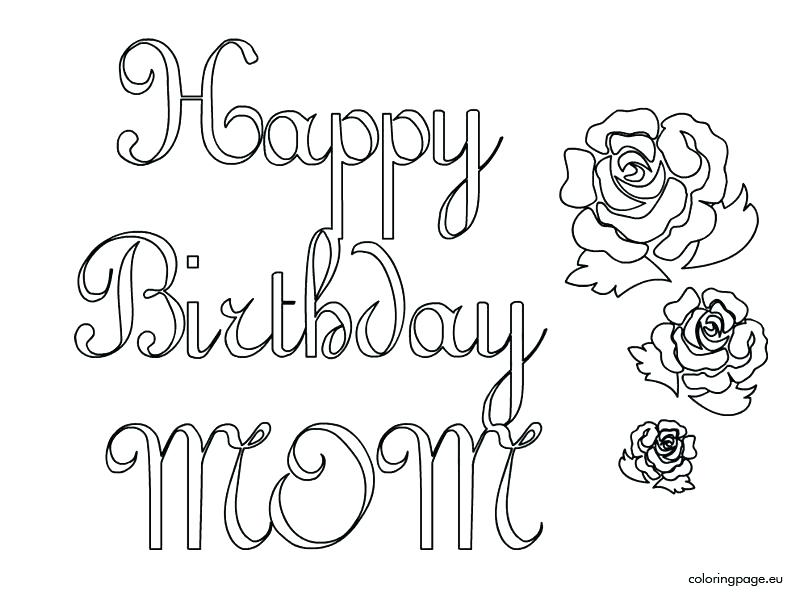804x595 Mom Coloring Page Mommy Coloring Pages Happy Birthday Mom