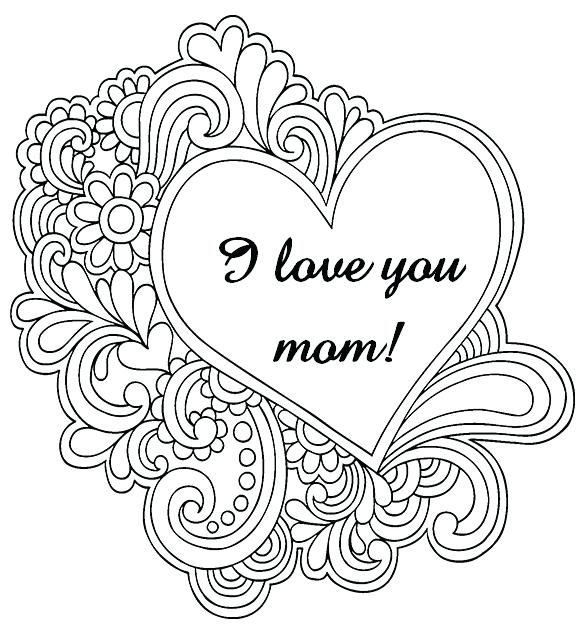 583x638 Mommy Coloring Pages Mom Coloring Pictures Mom Coloring Pages