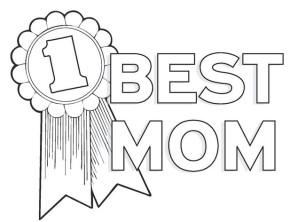 290x222 Mothers Day Best Mom Coloring Page, Happy Mother's Day, Happy