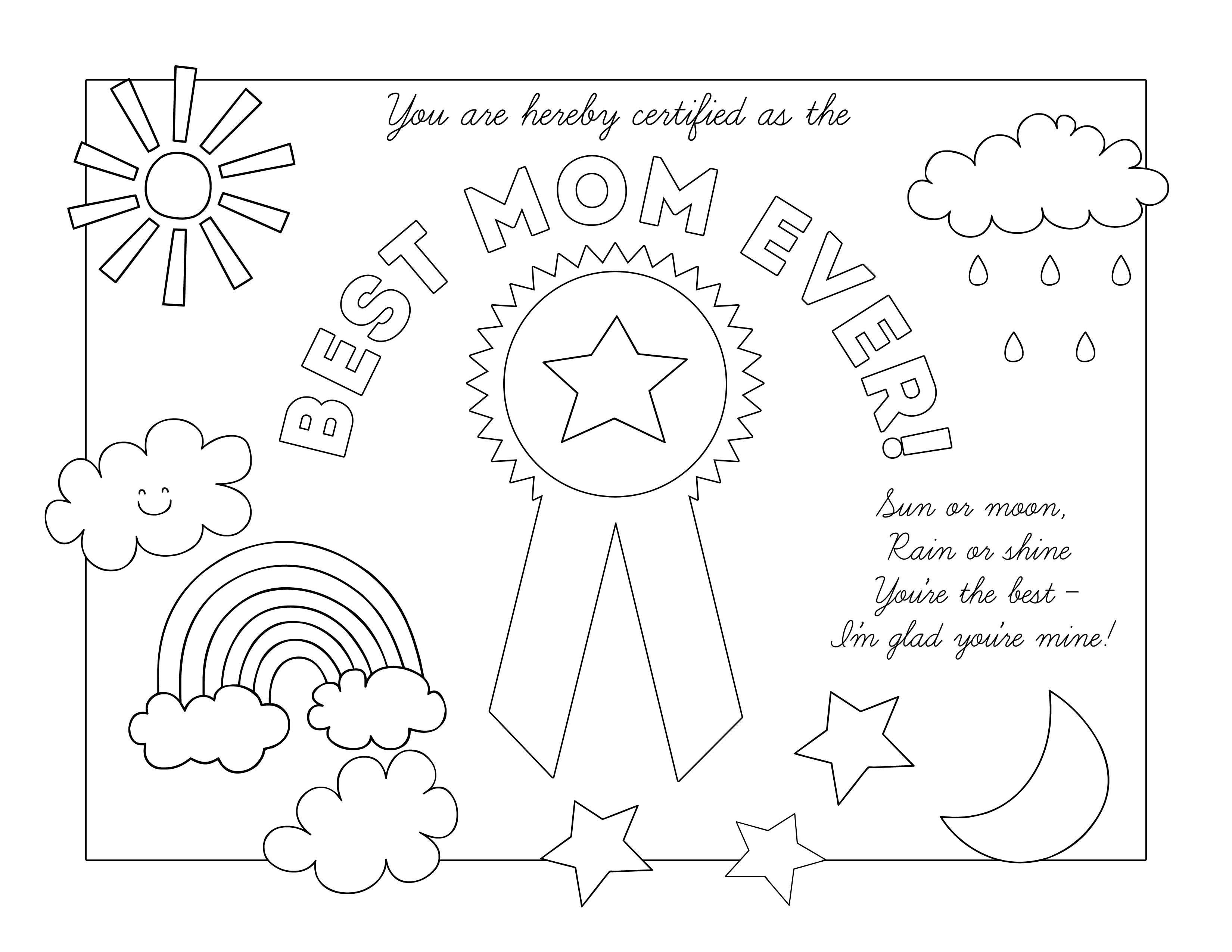 3300x2550 Mothers Day Coloring Pages