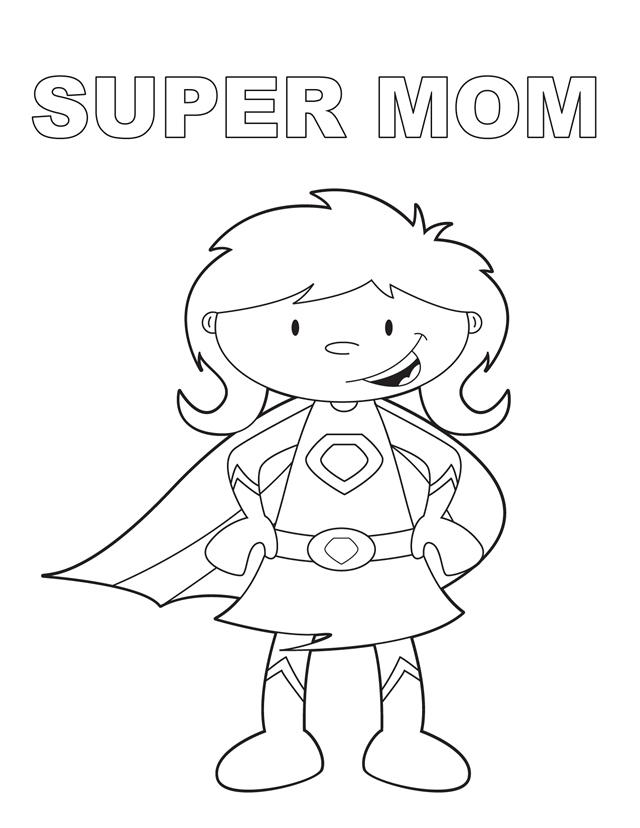 640x828 Super Mom Coloring Pages