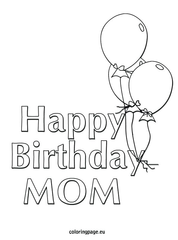 595x804 Best Mom Coloring Pages Printable Coloring Happy Birthday Mom
