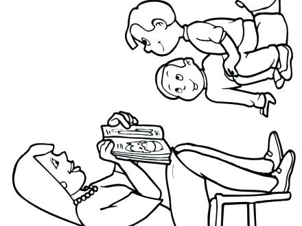 440x330 Teacher And Student Coloring Pages Teacher And Student Coloring