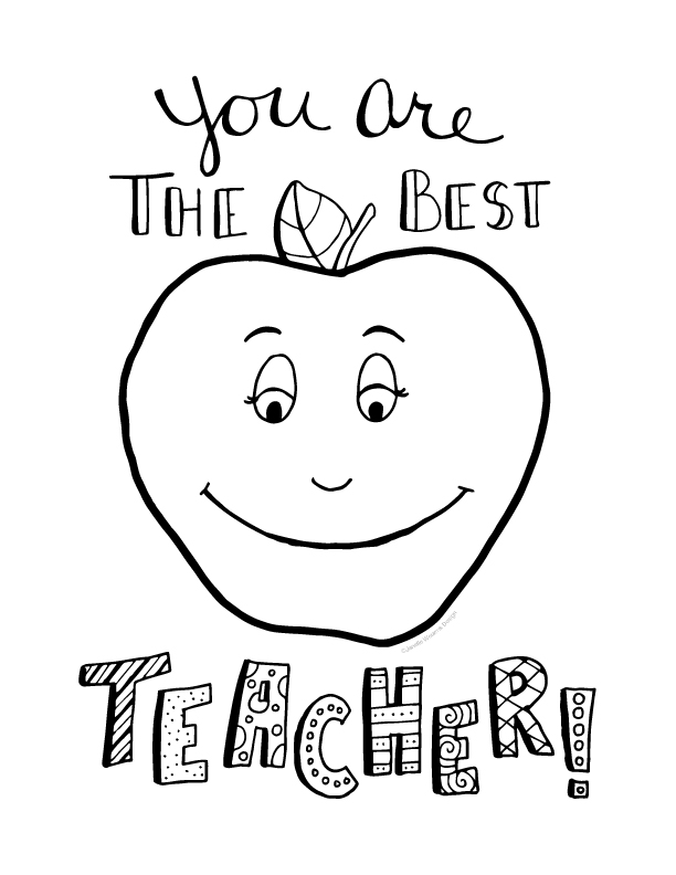 612x792 Teacher Coloring Pages