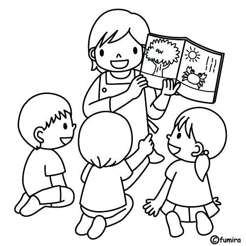 500x500 Teacher Coloring Pages