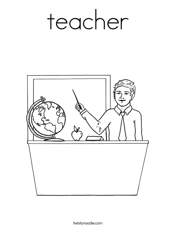685x886 Teacher Coloring Pages