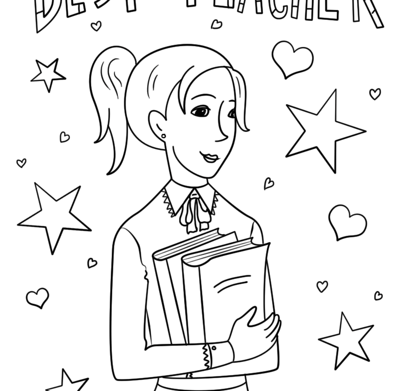824x800 Teacher Coloring Pages For Kids To Download And Printout Printable