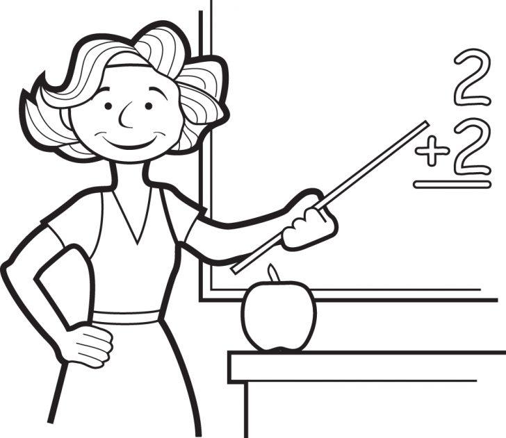 728x631 The Best Teacher Coloring Pages For Kids Bleupnr