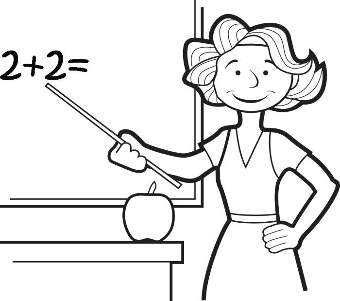 700x619 Best Teacher Coloring Pages Teacher Coloring Education Teacher