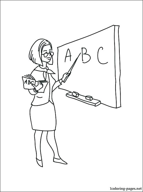 560x750 Coloring Pages For Teachers Best Teacher Coloring Pages Best