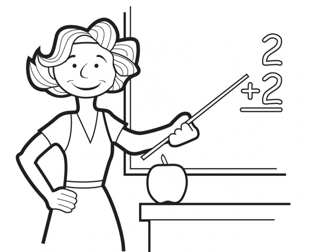 1025x836 Delightful Ideas Coloring Page Teacher Best Teacher Coloring Page